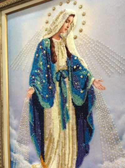 Virgin Mary the Unfading Blossom DIY bead embroidery kit beaded painting needlepoint craft set