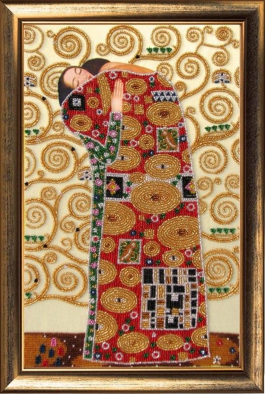 KIT DIY Bead Embroidery Needlepoint Beading Beadwork The tree of Life Klimt