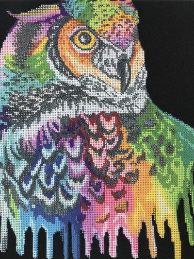 Painted_Owl_Bead_embroidery_kit_DIY